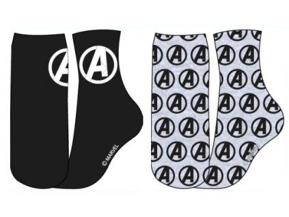 Pánské ponožky AVENGERS 2PACK 5334202 - černá, šedý melír