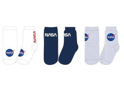 Pánské ponožky NASA 3PACK 5334233 - bílá, modrá, šedý melír