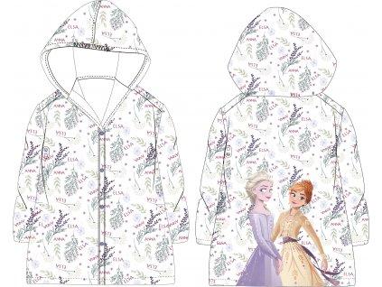 Dívčí pláštěnka FROZEN 52288739 - transparentní, rostlinky