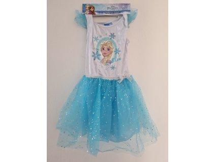 Dívčí šaty FROZEN 5378 - tyrkysové