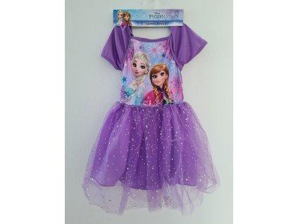 Dívčí šaty FROZEN 5352 - fialové