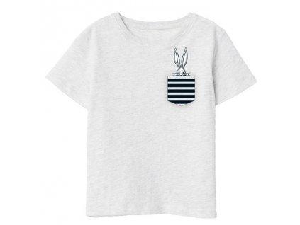 Dívčí triko BUGS BUNNY 5202551 - šedý melír