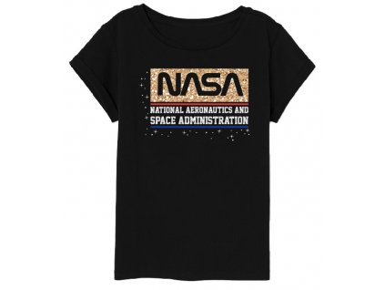 Dívčí triko NASA 5202160 - černé