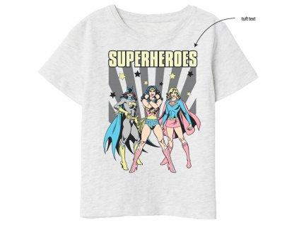 Dětské triko SUPERHEROES 5202039 - šedý melír