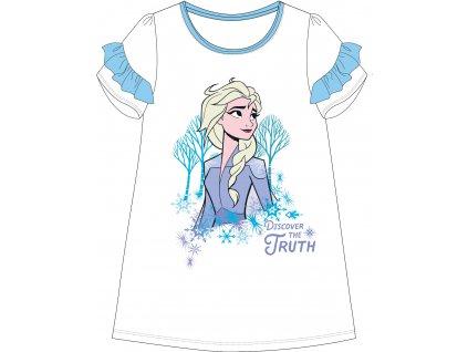 Dívčí noční košile FROZEN 52048241 - bílá/tyrkysové volánky