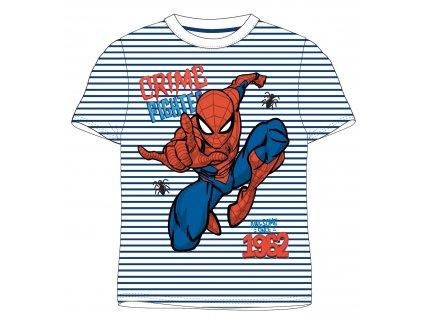 Chlapecké triko SPIDERMAN 52021140 - pruh, tm. modrá/bílá