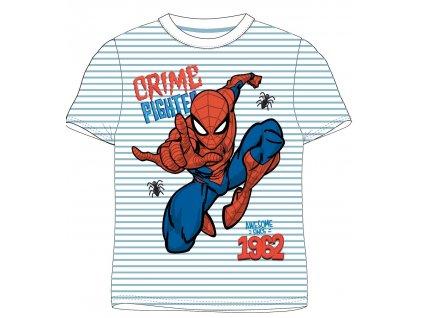 Chlapecké triko SPIDERMAN 52021140 - pruh, sv. modrá/bílá