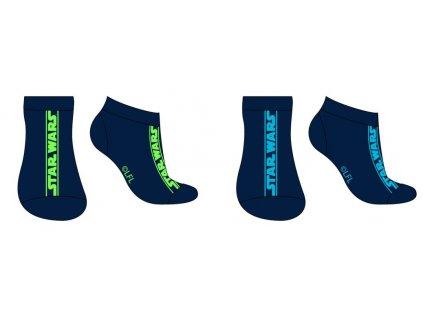 Pánské/chlapecké ponožky 2PACK STAR WARS 53345220 - kotníkové, modré