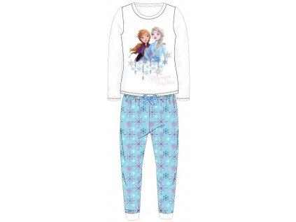 Dívčí pyžamo FROZEN 52048886 - bílá/tyrkys
