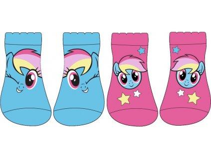 Dětské ponožky 2PACK MY LITTLE PONY 5234787 - kotníkové - růžová/modrá