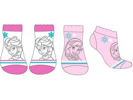 Dětské ponožky 2PACK FROZEN 52346132 - kotníkové - bílá/sv. růžová