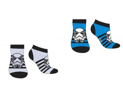 Dětské ponožky 2PACK STAR WARS 52345166 - kotníkové - modrá/šedá