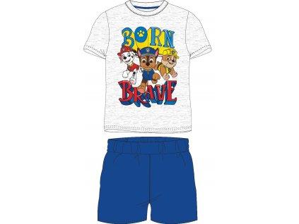 Dětské pyžamo TLAPKOVÁ PATROLA 52041411 - sv. šedý melír/modrá