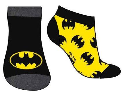 Dětské ponožky BATMAN 2PACK 5234182 - kotníkové - černá/žlutá