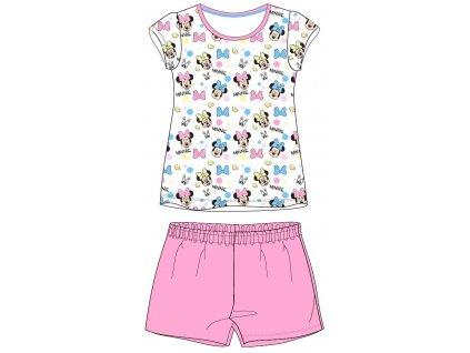 Dívčí pyžamo MINNIE 52046098 - krátké, růžová/bílá