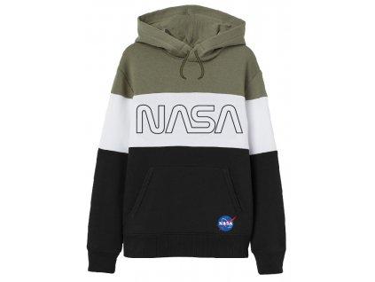 Chlapecká mikina NASA 5218104 - černá/bílá/khaki