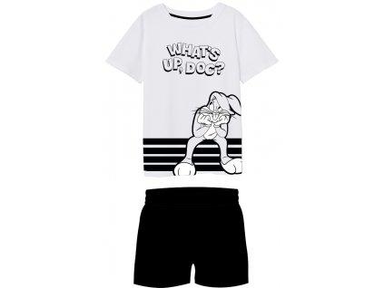 Chlapecké pyžamo LOONEY TUNES BUGS BUNNY 5204543 - s kraťasy, bílá/černá