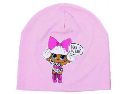 Dívčí bavlněná čepice LOL 9106 - sv. růžová