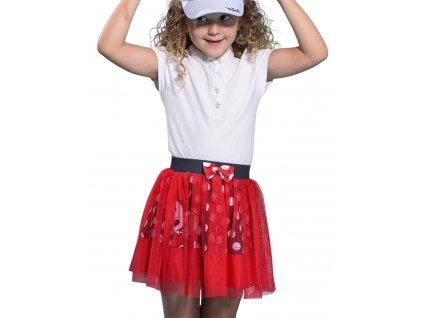 Dívčí sukně MINNIE 005374 - červená s tylem