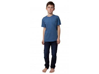 Chlapecké triko CALVI 20-063 - modré