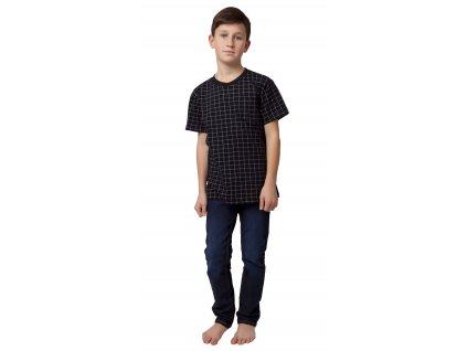 Chlapecké triko CALVI 20-063 - černé