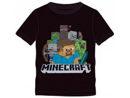 Dětské triko MINECRAFT 40329 - černé, Steve