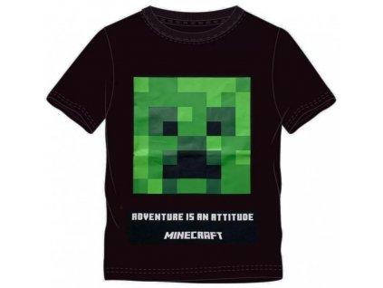 Dětské triko MINECRAFT 40326 - černé, zelený obrázek