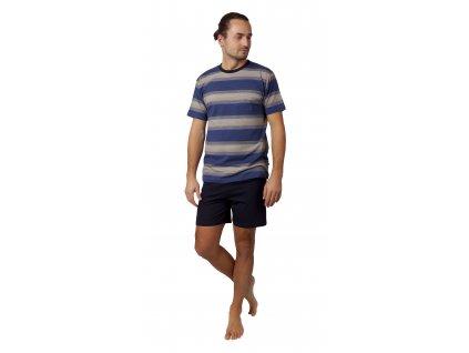 Pánské pyžamo CALVI 21-346 -modrožluté