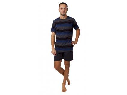 Pánské pyžamo CALVI 21-346 -modročerné