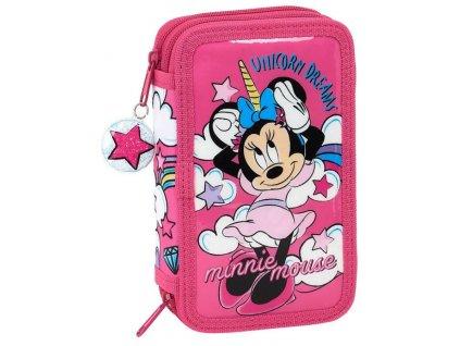 Školní penál MINNIE JEDNOROŽEC 012854 - růžový