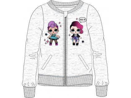 Dívčí mikina na zip LOL 5218102 - sv. šedý melír