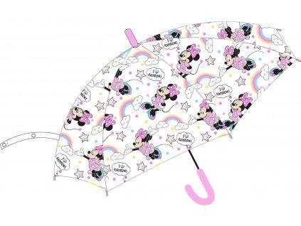 Dívčí deštník MINNIE DUHA 52506893 - transparentní s obrázky