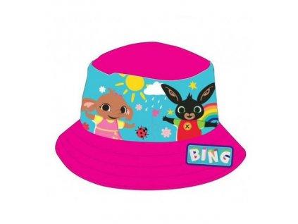 Dětský klobouk ZAJÍČEK BING 771-999 - tm. růžový
