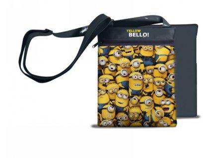 Taška přes rameno MIMONI 38824 - žlutá/šedá