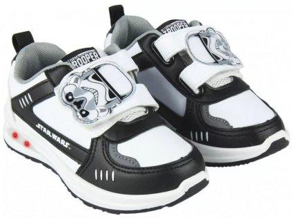 Dětské botasky STAR WARS LED 004498 - bílá/černá