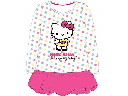 Dívčí šatová tunika HELLO KITTY 52232207 - s puntíky/růžová
