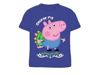 Dětské triko PEPPA PIG 5202826 - krátký rukáv, modré