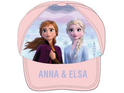 Dívčí kšiltovka FROZEN ANNA A ELSA 52399242 - pudrová
