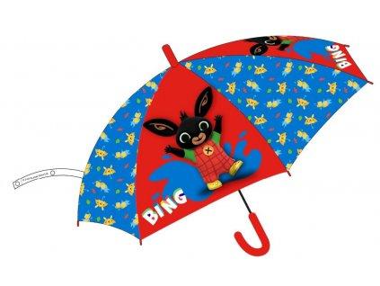 Dětský deštník ZAJÍČEK BING 5250068 - červená/modrá