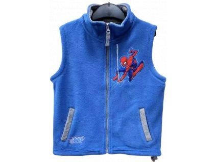 Dětská flísová vesta SPIDERMAN 05751 - světlejší modrá