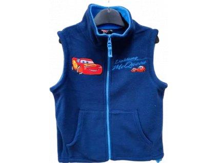 Dětská flísová vesta CARS 05750 -  modrá