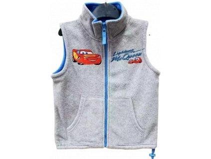 Dětská flísová vesta CARS 05750 -  šedá