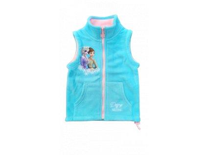 Dětská flísová vesta FROZEN 02680 - světlejší tyrkys