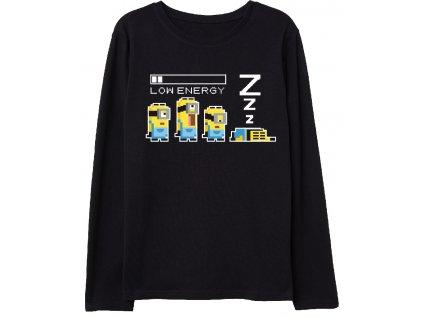 Chlapecké triko MIMONI 5202735 - černé, dlouhý rukáv