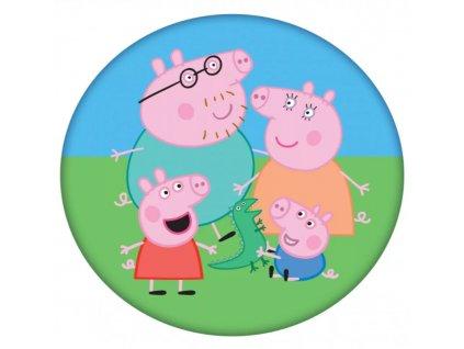 Dětský polštářek 192022 - rodinka PEPPA PIG - kulatý, barevný mix
