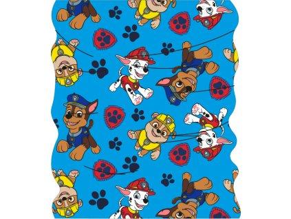 Nákrčník / multifunkční šátek TLAPKOVÁ PATROLA 52411574 - modrá