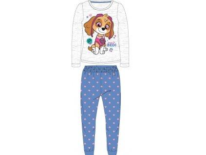 Dětské pyžamo TLAPKOVÁ PATROLA  52041569 - šedý melír/modrá