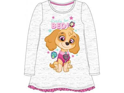 Dívčí noční košile TLAPKOVÁ PATROLA 5204878 - šedý melír