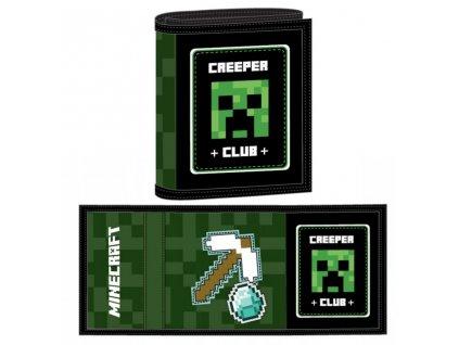 Peněženka MINECRAFT 152356 - černá/zelená