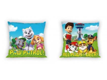 Dětský polštářek 8891 TLAPKOVÁ PATROLA - barevný mix